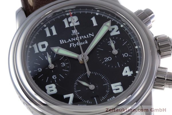Used luxury watch Blancpain Leman chronograph steel automatic Kal. F185  | 153718 02