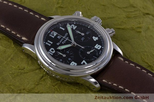 Used luxury watch Blancpain Leman chronograph steel automatic Kal. F185  | 153718 14