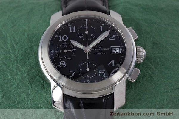 Used luxury watch Baume & Mercier Capeland chronograph steel automatic Kal. BM 13750 ETA 7750 Ref. MV045216  | 160009 15