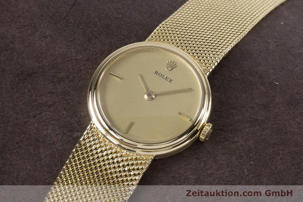 Used luxury watch Rolex * 18 ct gold manual winding Kal. 1600 Ref. 890-35  | 160018 01