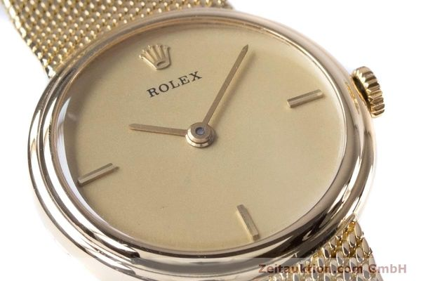 Used luxury watch Rolex * 18 ct gold manual winding Kal. 1600 Ref. 890-35  | 160018 02