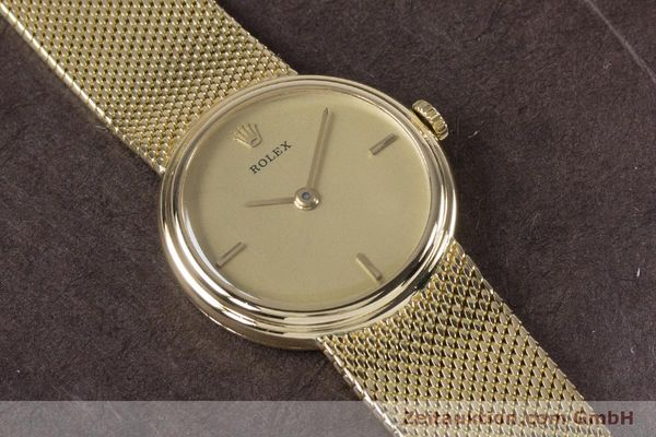 Used luxury watch Rolex * 18 ct gold manual winding Kal. 1600 Ref. 890-35  | 160018 15