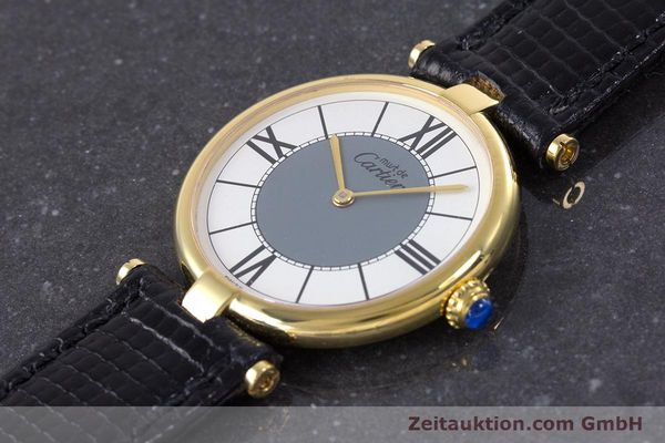 Used luxury watch Cartier Vermeil silver-gilt quartz Kal. 90  | 160019 01