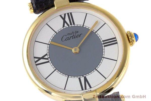 Used luxury watch Cartier Vermeil silver-gilt quartz Kal. 90  | 160019 02