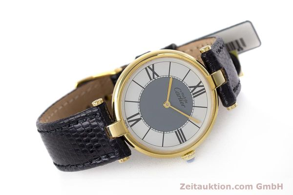 Used luxury watch Cartier Vermeil silver-gilt quartz Kal. 90  | 160019 03