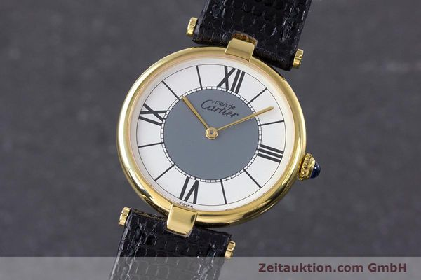 Used luxury watch Cartier Vermeil silver-gilt quartz Kal. 90  | 160019 04