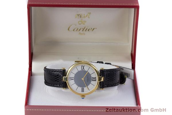 Used luxury watch Cartier Vermeil silver-gilt quartz Kal. 90  | 160019 07