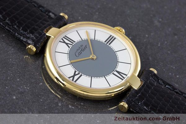 Used luxury watch Cartier Vermeil silver-gilt quartz Kal. 90  | 160019 12