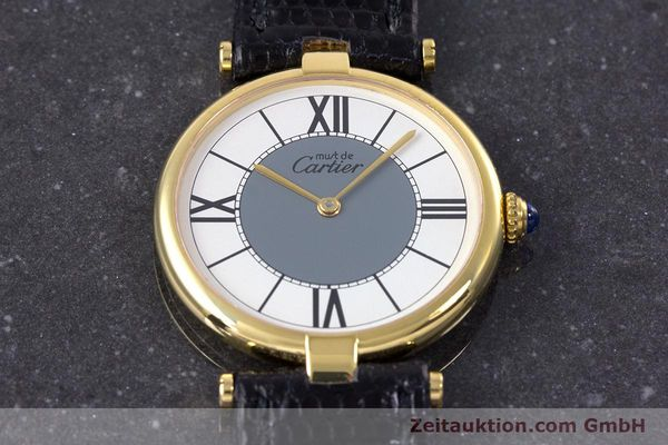 Used luxury watch Cartier Vermeil silver-gilt quartz Kal. 90  | 160019 13