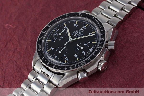 Used luxury watch Omega Speedmaster chronograph steel automatic Kal. 1140 ETA 2890-2  | 160029 01
