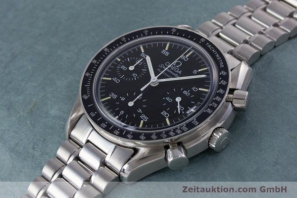 Used luxury watch Omega Speedmaster chronograph steel automatic Kal. 1140 ETA 2890-2  | 160032 01