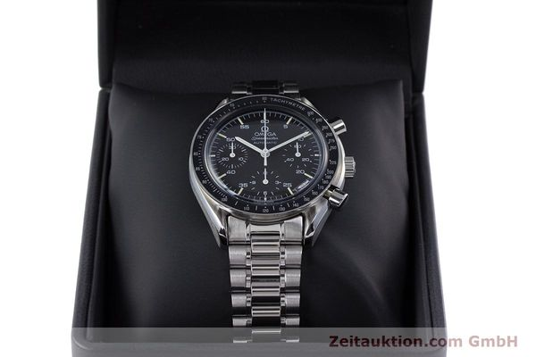 Used luxury watch Omega Speedmaster chronograph steel automatic Kal. 1140 ETA 2890-2  | 160032 07