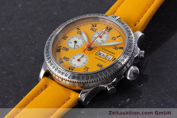 Used luxury watch Longines Lindbergh Stundenwinkel chronograph steel automatic Kal. L674.8 ETA 7750 Ref. L2.618.4  | 160040 01