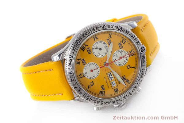 Used luxury watch Longines Lindbergh Stundenwinkel chronograph steel automatic Kal. L674.8 ETA 7750 Ref. L2.618.4  | 160040 03