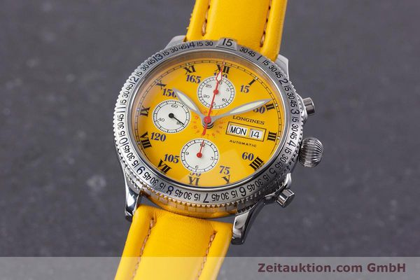 Used luxury watch Longines Lindbergh Stundenwinkel chronograph steel automatic Kal. L674.8 ETA 7750 Ref. L2.618.4  | 160040 04