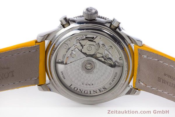 Used luxury watch Longines Lindbergh Stundenwinkel chronograph steel automatic Kal. L674.8 ETA 7750 Ref. L2.618.4  | 160040 08