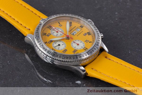 Used luxury watch Longines Lindbergh Stundenwinkel chronograph steel automatic Kal. L674.8 ETA 7750 Ref. L2.618.4  | 160040 16