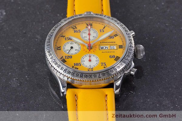 Used luxury watch Longines Lindbergh Stundenwinkel chronograph steel automatic Kal. L674.8 ETA 7750 Ref. L2.618.4  | 160040 17