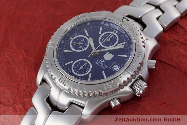 Used luxury watch Tag Heuer Link chronograph steel automatic Kal. ETA 7750 Ref. CT2113  | 160047 01