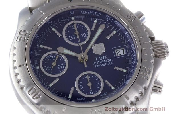 Used luxury watch Tag Heuer Link chronograph steel automatic Kal. ETA 7750 Ref. CT2113  | 160047 02