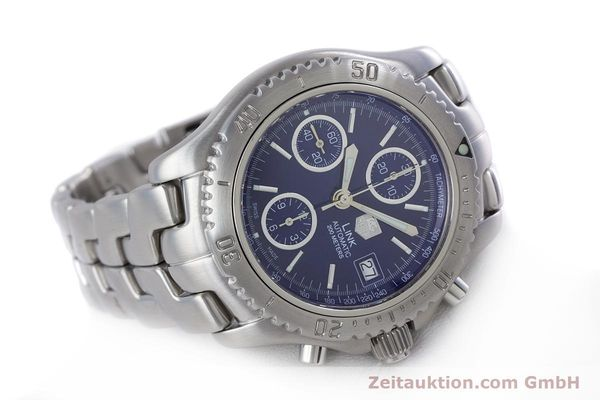 Used luxury watch Tag Heuer Link chronograph steel automatic Kal. ETA 7750 Ref. CT2113  | 160047 03