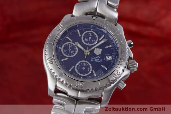 Used luxury watch Tag Heuer Link chronograph steel automatic Kal. ETA 7750 Ref. CT2113  | 160047 04