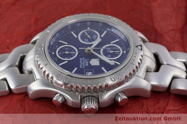 Used luxury watch Tag Heuer Link chronograph steel automatic Kal. ETA 7750 Ref. CT2113  | 160047 05