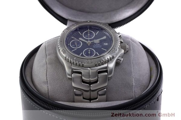 Used luxury watch Tag Heuer Link chronograph steel automatic Kal. ETA 7750 Ref. CT2113  | 160047 07