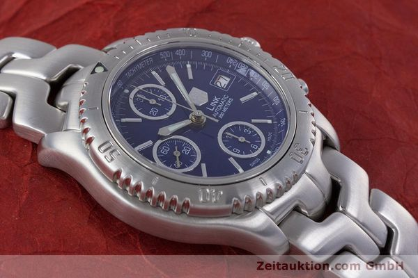 Used luxury watch Tag Heuer Link chronograph steel automatic Kal. ETA 7750 Ref. CT2113  | 160047 16
