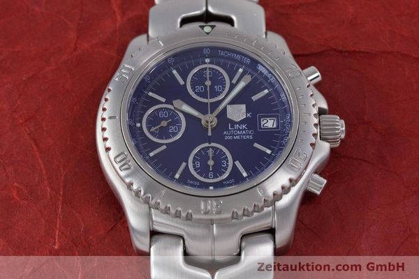 Used luxury watch Tag Heuer Link chronograph steel automatic Kal. ETA 7750 Ref. CT2113  | 160047 17