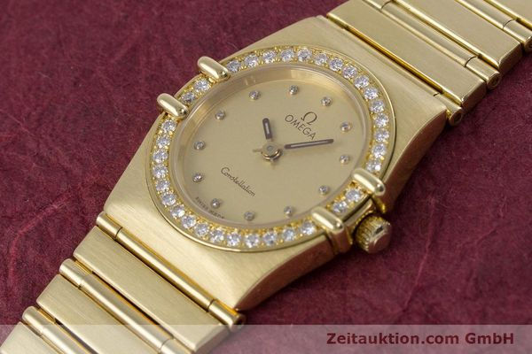 gebrauchte Luxusuhr Omega Constellation 18k Gold Quarz Kal. 1455  | 160052 01