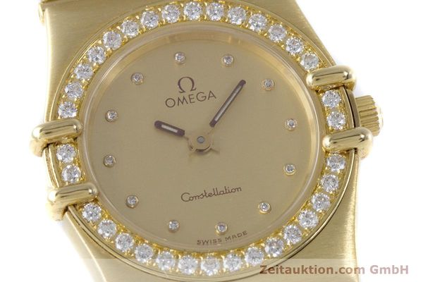 gebrauchte Luxusuhr Omega Constellation 18k Gold Quarz Kal. 1455  | 160052 02