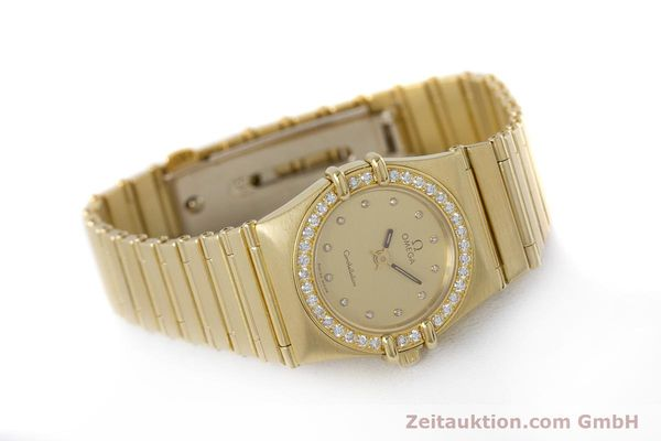 gebrauchte Luxusuhr Omega Constellation 18k Gold Quarz Kal. 1455  | 160052 03
