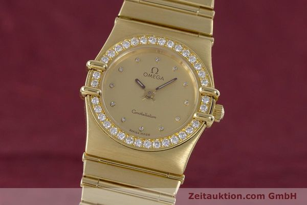 gebrauchte Luxusuhr Omega Constellation 18k Gold Quarz Kal. 1455  | 160052 04