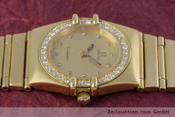 gebrauchte Luxusuhr Omega Constellation 18k Gold Quarz Kal. 1455  | 160052 05