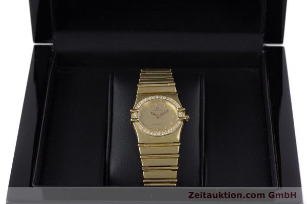 gebrauchte Luxusuhr Omega Constellation 18k Gold Quarz Kal. 1455  | 160052 07