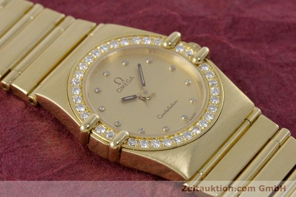 gebrauchte Luxusuhr Omega Constellation 18k Gold Quarz Kal. 1455  | 160052 14