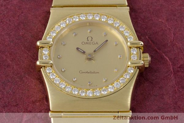 gebrauchte Luxusuhr Omega Constellation 18k Gold Quarz Kal. 1455  | 160052 15