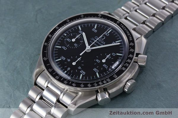Used luxury watch Omega Speedmaster chronograph steel automatic Kal. 3220A  | 160065 01