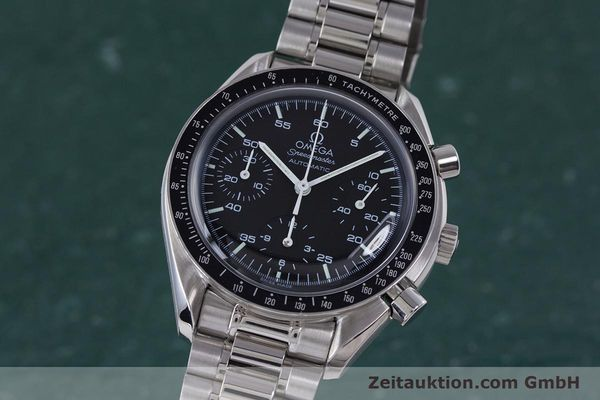 Used luxury watch Omega Speedmaster chronograph steel automatic Kal. 3220A  | 160072 04