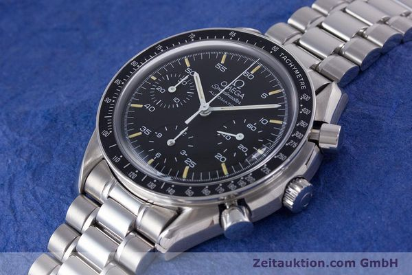 Used luxury watch Omega Speedmaster chronograph steel automatic Kal. 1140 ETA 2890-2  | 160073 01