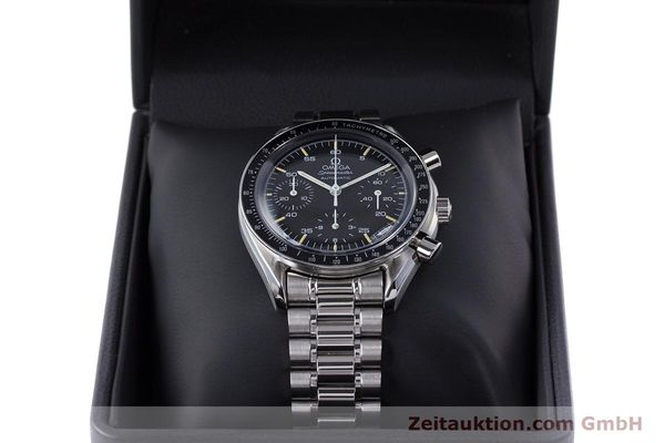 Used luxury watch Omega Speedmaster chronograph steel automatic Kal. 1140 ETA 2890-2  | 160073 07
