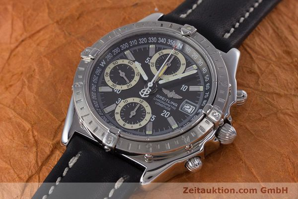 Used luxury watch Breitling Longitude chronograph steel automatic Kal. B20 ETA 7750 Ref. A20348  | 160075 01