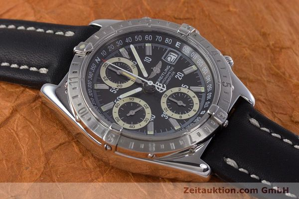 Used luxury watch Breitling Longitude chronograph steel automatic Kal. B20 ETA 7750 Ref. A20348  | 160075 13