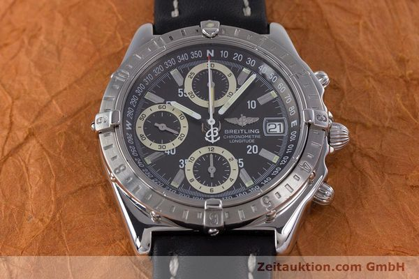 Used luxury watch Breitling Longitude chronograph steel automatic Kal. B20 ETA 7750 Ref. A20348  | 160075 14