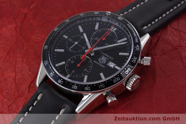 Used luxury watch Tag Heuer Carrera chronograph steel automatic Kal. 16 Ref. CV2014  | 160081 01