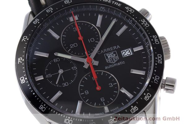 Used luxury watch Tag Heuer Carrera chronograph steel automatic Kal. 16 Ref. CV2014  | 160081 02