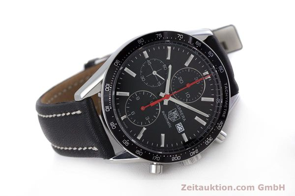 Used luxury watch Tag Heuer Carrera chronograph steel automatic Kal. 16 Ref. CV2014  | 160081 03