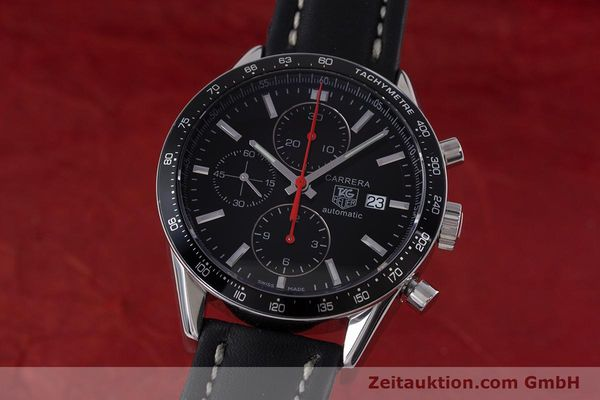 Used luxury watch Tag Heuer Carrera chronograph steel automatic Kal. 16 Ref. CV2014  | 160081 04