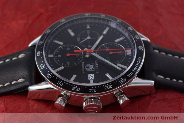 Used luxury watch Tag Heuer Carrera chronograph steel automatic Kal. 16 Ref. CV2014  | 160081 05